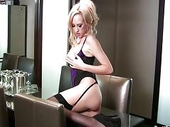 Brett Rossi looking hot in purple lingerie tube porn video