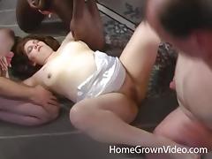 Hardcore gangbang with a mature chubby slut Tara Lynn