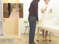 Asian voyeur video with a slut jerking guy's rod porn tube video
