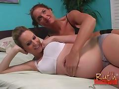 Pregnant blonde introduces her friend to big black cock