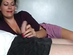 Brunette MILF Pretty Tongue Tease