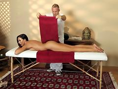 Oily massage session turns into an orgasmic pussy drilling action tube porn video