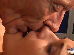 Young girl is so kinky that fucks an old fart tube porn video