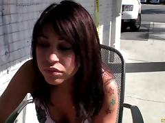 Brunette broad has her anal jammed with a big cock after giving a thorough blowjob