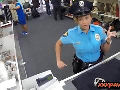 Lady police officer gets nailed in a pawnshop to earn cash tube porn video