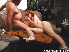 Amateur couple hardcore action tube porn video