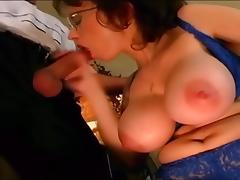 Big Tits Lonely Stepmom ended up fucking the waiter tube porn video