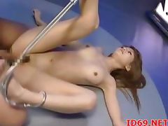 Clean shaved girl fucked