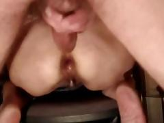 Granny fucks and gets an anal creampie