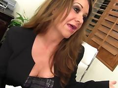 It takes a thick cock to satisfy this demanding milf slut