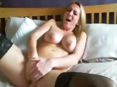 Mature Lady Masturbating