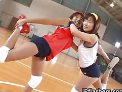 Amateur Japanese teens exposed playing
