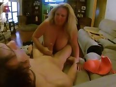 Massive Titted Whore Sucks Me While Hubby Films!!!!