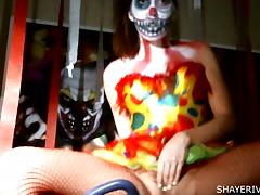 Shaye Rivers Halloween Clown Masturbation tube porn video