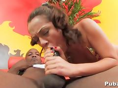 Kristina Rose sucks and fucks a big black cock tube porn video