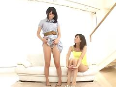 Japanese lesbian sex scenes with two beautiful pornstars tube porn video