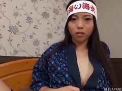 Big cock enjoys the pleasures of her sucking Japanese mouth porn tube video