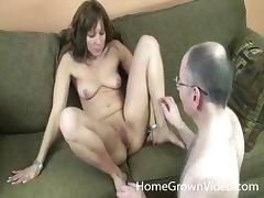 Amateur brunette wants to show off her blowjob & cock riding skills