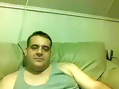 Attractive homosexual is masturbating within doors and shooting himself on webcam