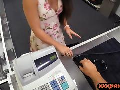 Sexy Ex dominatrix pawns her twat and fucked by pawn keeper tube porn video
