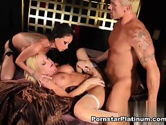 Raven Bay in Threesome with Amy Brooke tube porn video
