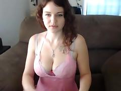 Big Tits, Big Tits, College, Redhead, Solo, Strip