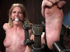 helpless ashley gets restrained