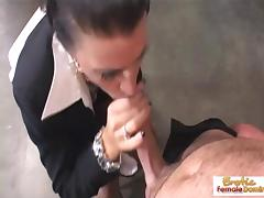 Cougar boss wants his cock in her tight asshole tube porn video