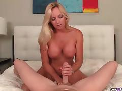 Big titted step-mom handjob
