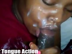 Mz. Tongue Action Deepthroat and Facial
