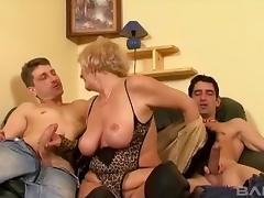 Mature woman loves nothing more than younger cocks in her