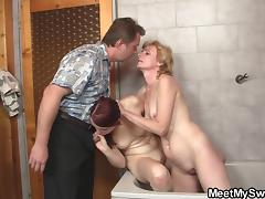Mom and Boy, Bath, Bathing, Bathroom, Couple, Fucking