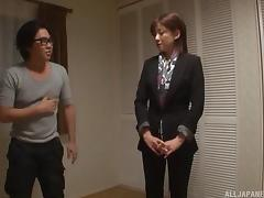 Japanese woman loves teasing randy men & stripping in front of them porn tube video