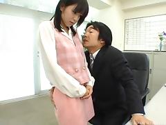 Office, Asian, Blowjob, Bra, Fingering, Fucking