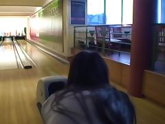 Nessa Devil in amateur girl gives ultimate blowjob in a bowling alley