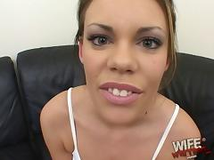 White whore gets on her knees and worships black dick properly porn tube video