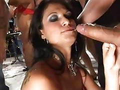 Brazilian party chicks love hard cock