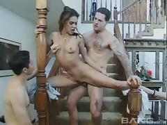 Rough double penetration is the only way she can orgasm
