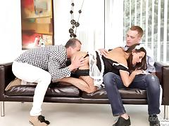 hungry for cock babe gets served @ dp the nanny with me #04