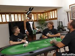 Card game slut gets gangbanged by the horny players