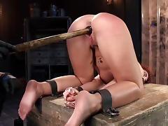 Savannah Fox gets ass fucked in BDSM scenes tube porn video