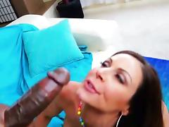 Gorgeous milf Kendra Lust gets facialized by BBC