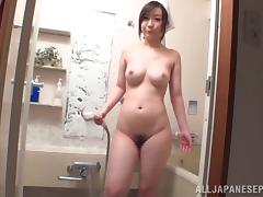 Japanese, Asian, Bath, Big Tits, Couple, Cowgirl