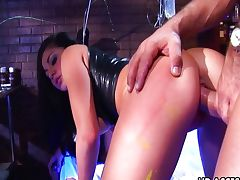 Kinky hardcore sex with Audrey Bitoni tube porn video