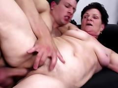 Grandma suck and fuck young big cock tube porn video