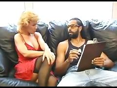 Mom and Boy, Black, Ebony, Fucking, Interracial, Lingerie