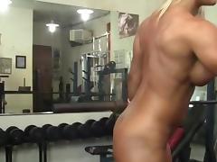 Dani Andrews and Megan Avalon Gym Lesbians