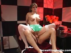Horny nurse gives her patient a full cock exam
