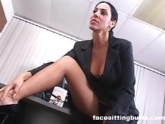 Employee fucks the boss and keeps his lousy job porn tube video