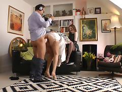 Dad and Girl, Big Tits, Blowjob, British, Couple, Cowgirl